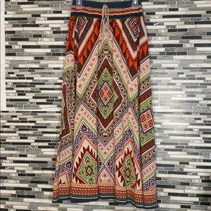 Dejavú Aztec Maxi Skirt